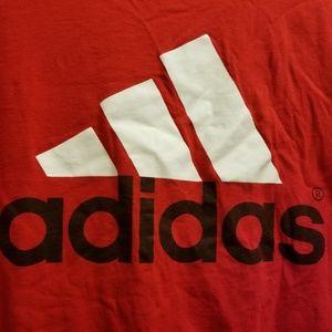 Adidas mens red shirt